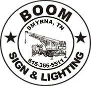Boom Sign & Lighting